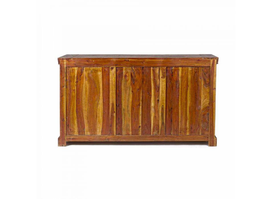 Aparador clásico en madera maciza de acacia con acabado rústico y antiguo - Enia