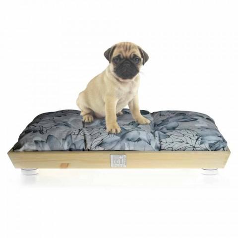 Caseta para perros y gatos en madera maciza con almohada lavable Made in Italy - Juma