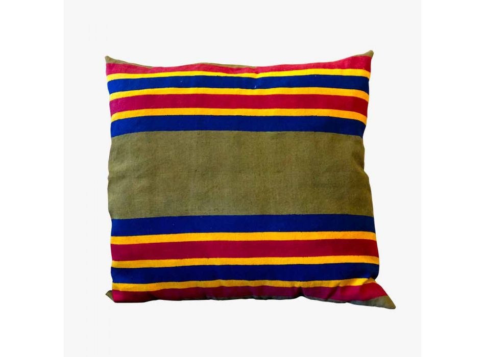 Artistic Italian Craft Cushion Pieza única pintada a mano - Viadurini por Marchi
