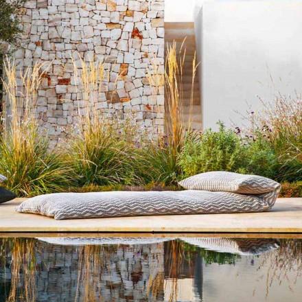 Puf de diseño exterior con sofá cama individual, alta calidad Made in Italy - Emanuela
