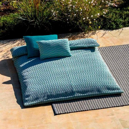 Sofá cama de diseño al aire libre con sofá cama doble en PVC, 2 colores - Emanuela