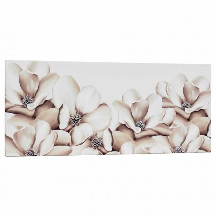 Imprimir en lienzo floral de diseño decorado a mano en Italia Moscal