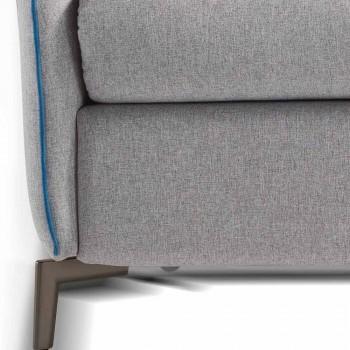 2 plazas maxi L.165cm imitación de cuero / tela hecha en Italia Erica