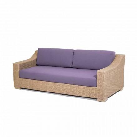Sofá 3 plazas para exteriores de polietileno y tempotest Joe
