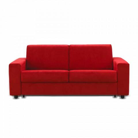 2 plazas sofá moderno diseño de imitación de cuero / tela hecha en Italia Mora
