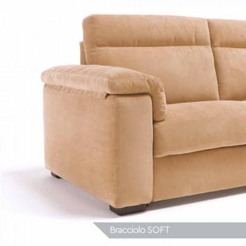 Sofá 2 plazas diseño de la tela o de cuero Lilia, fabricado en Italia