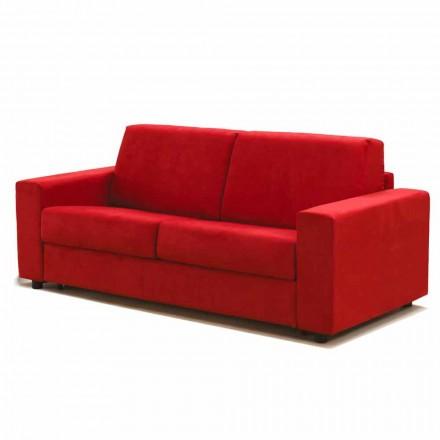 2 plazas sofá maxi imitación moderna de cuero / tela hecha en Italia Mora