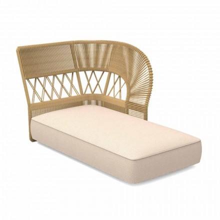 Sofá chaise longue de exterior en cuerda y tela - Cliff Decò by Talenti