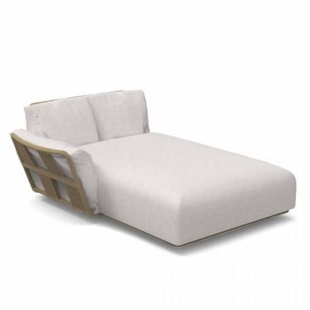 Sofá de jardín Chaise Longue en tela y aluminio - Scacco by Talenti