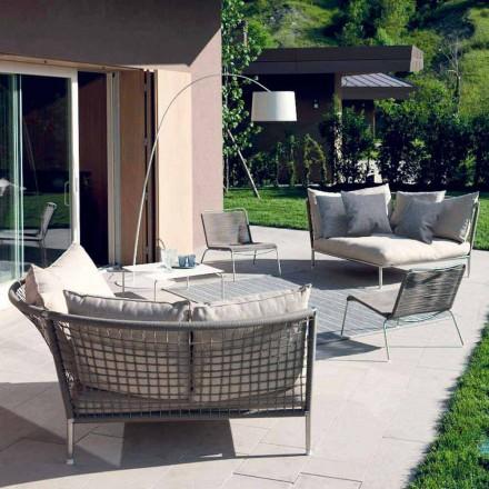 Sofá de jardín circular de tela Made in Italy Design - Ontario4