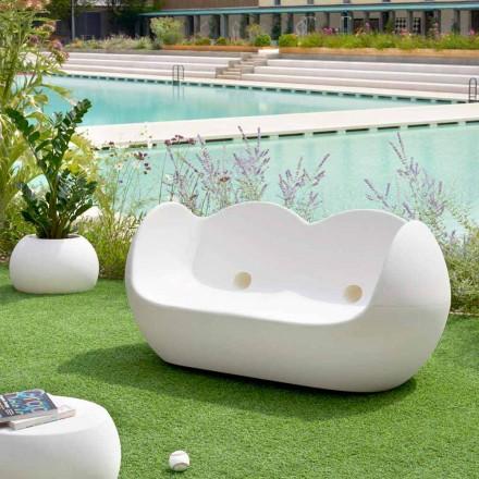 Sofá mecedora para exterior Slide Blossy diseño moderno hecho en Italia