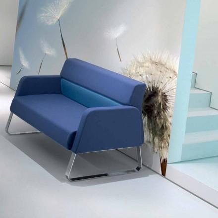 Sofá de espera de diseño de piel imitación hecho en Italia Ennio