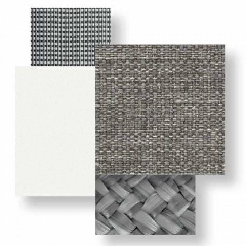 Sofá 2 plazas para exterior en aluminio y tela - Cottage Luxury by Talenti