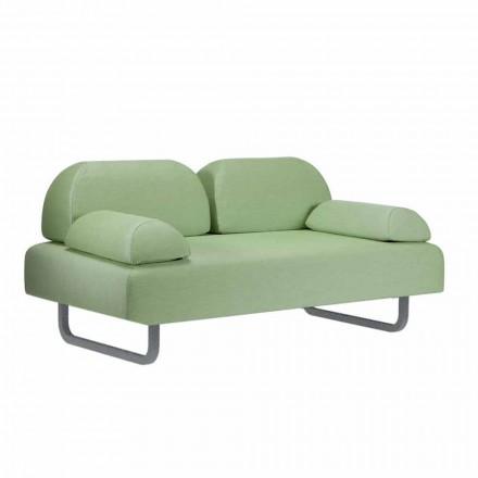 Sofá de exterior 2 plazas en tela y metal Diseño Made in Italy - Selia