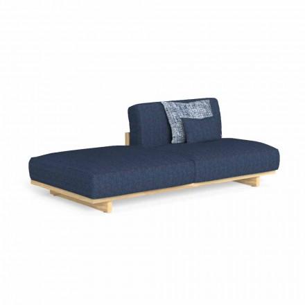 Sofá de exterior de diseño modular con puf izquierdo o derecho - Argo by Talenti