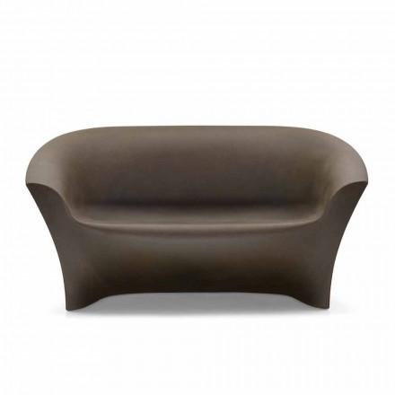 Sofá de diseño para exteriores en polietileno coloreado Made in Italy - Conda