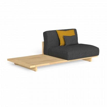 Sofá de exterior modular con mesa derecha o izquierda - Argo by Talenti