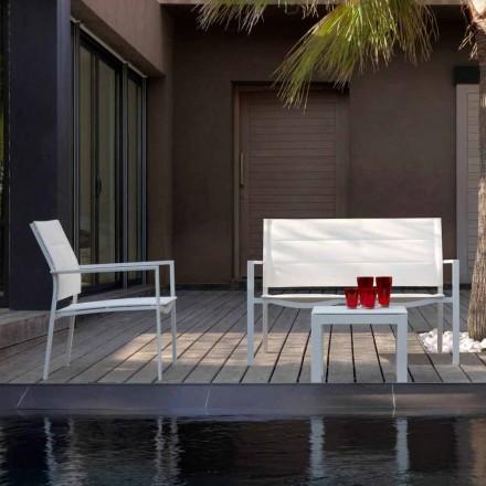 Sofá de jardín moderno de Aluminio modelo Touch
