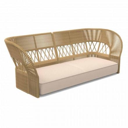Sofá de jardín de tres plazas de diseño moderno - Cliff Decò de Talenti