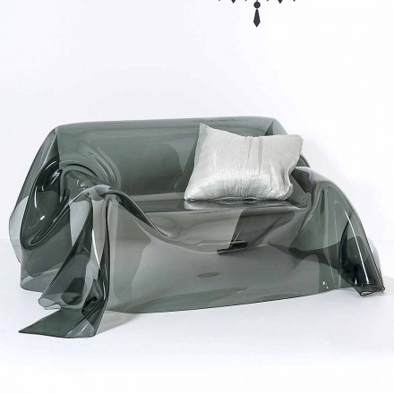 Sofá moderno de diseño alegre en plexiglás, hecho en Italia