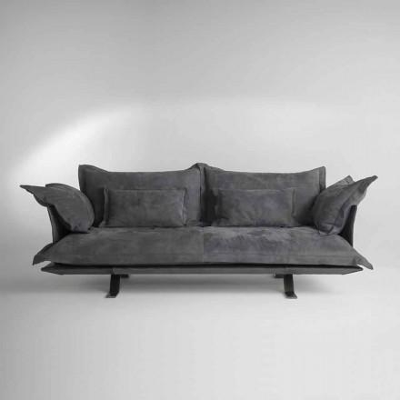 sofá de diseño moderno piel Shita, 170, 220 o 250 cm