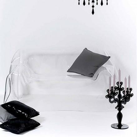 Sofá de diseño moderno en plexiglás transparente de Jolly, hecho en Italia