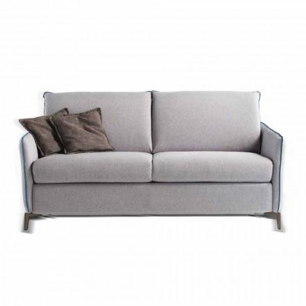 Sofá de dos plazas diseño moderno L.145 cm imitación de cuero / tela de Erica