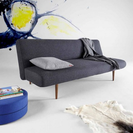 Sofá cama de diseño moderno Unfurl by Innovation tapizado