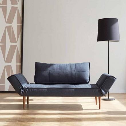 Sofá cama moderno Zeal by Innovation en tejido acolchado.