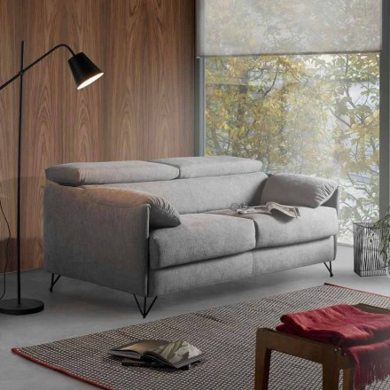 Sofá cama en tejido extraíble con diseño hecho en Italia Vittorio.