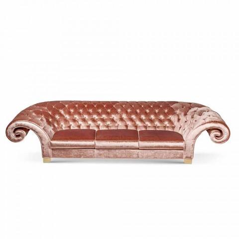 sofá lineal en tela acolchada trabajó clásico Baloo