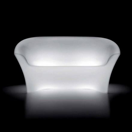 Sofá exterior brillante de polietileno con luz LED Made in Italy - Conda