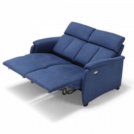 Sofá 2posti relajación eléctrica, 2 asientos eléctricos Gelso, diseño moderno