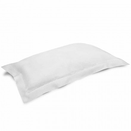 Funda de almohada en lino puro blanco crema Made in Italy - Poppy