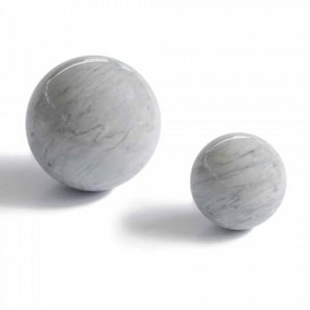 Bola moderna pisapapeles en mármol gris Bardiglio Made in Italy - Esfera