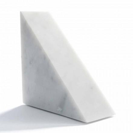 Sujetalibros de mármol blanco moderno de Carrara hecho en Italia - Tria