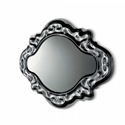 Espejo de pared de diseño moderno nuevo barroco Fiam Veblèn hecho en Italia