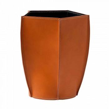 Caja de papel de diseño diseñada en cuero Poligiono regenerado, fabricada en Italia.