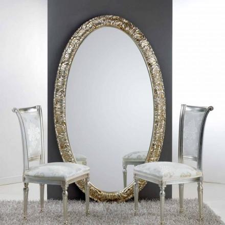 Gran espejo ovalado del suelo / Vida pared, 114x190 cm