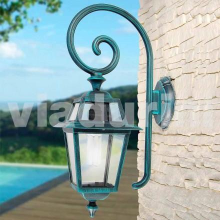 Lámpara de pared para jardín, de aluminio, fabricada en Italia, Kristel