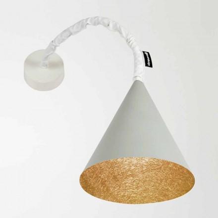 Lámpara de pared de diseño In-es.artdesign Jazz Cemento pintado