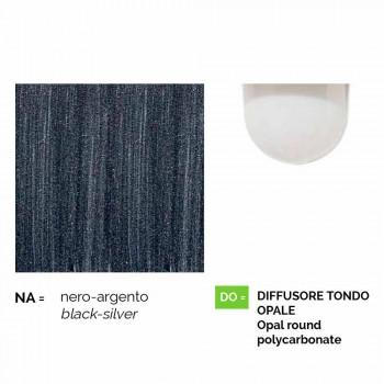 Lámpara de pared para exterior de aluminio fundido a presión fabricada en Italia, Anusca