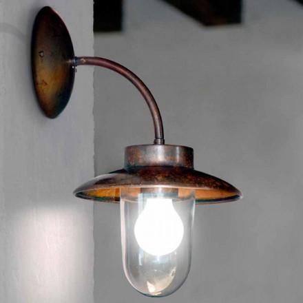 Lámpara pared cobre cristal y latón envejecido La Traviata