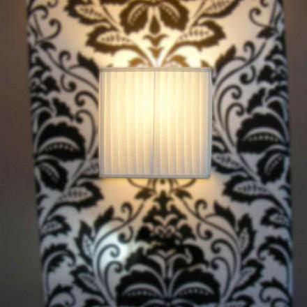 Lámpara de pared moderna de seda color marfil Bamboo