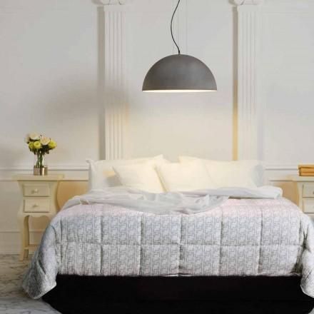 Lámpara colgante de acero bicolor, 50x H25x L.cavo100 cm Grace