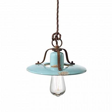 suspensión país lámpara de cerámica y metal Sara Ferroluce