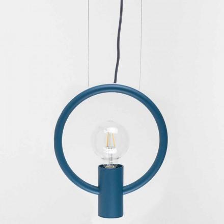 Lámpara de suspensión de diseño en acero Made in Italy - Delizia