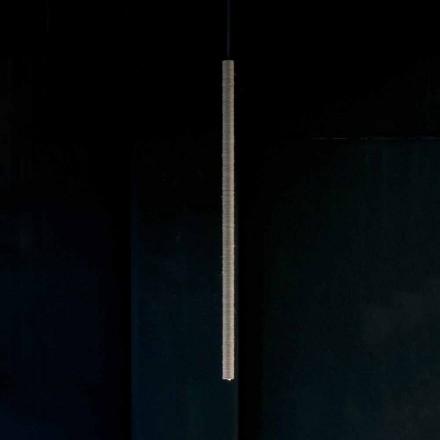 Lámpara de suspensión de aluminio recubierta de cuerda Made in Italy - Ginia