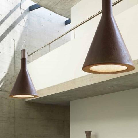 Lámpara colgante en Embudo concreto Aldo Bernardi