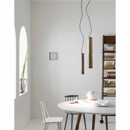 Lámpara de suspensión estilo industrial Girasoli Il Fanale